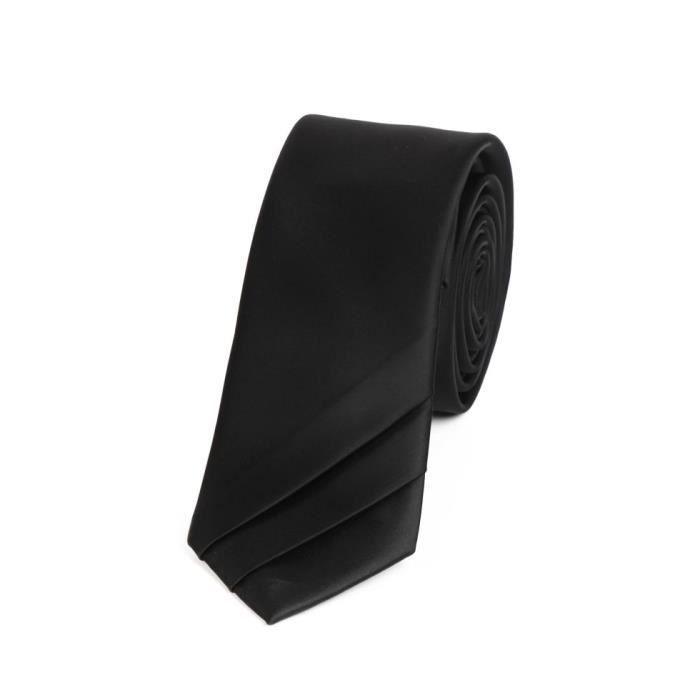 Cravate homme slim noire ou blanche achat vente - Cravate noire homme ...