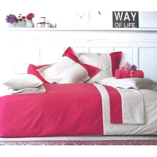 toi et moi laurette azal e lin drap housse 180x200 achat vente drap housse cdiscount. Black Bedroom Furniture Sets. Home Design Ideas