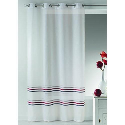 home maison hm6944299 voilage basses rayures tiss es. Black Bedroom Furniture Sets. Home Design Ideas