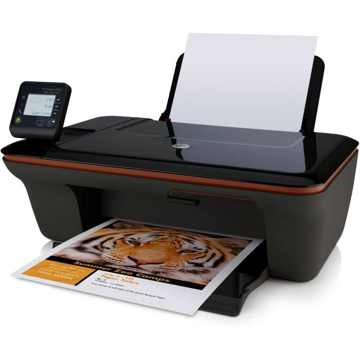 3055A All in One d'HP réunit une imprimante jet d'encre, un scanner