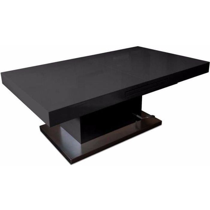 table basse relevable extensible setup noir brillant achat vente table basse table basse. Black Bedroom Furniture Sets. Home Design Ideas