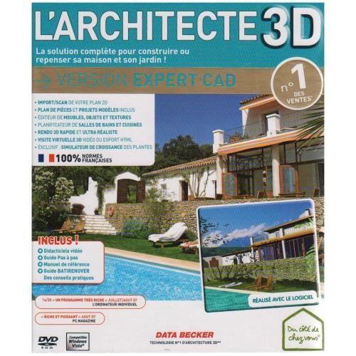 l 39 architecte 3d expert cad pc prix pas cher cdiscount. Black Bedroom Furniture Sets. Home Design Ideas