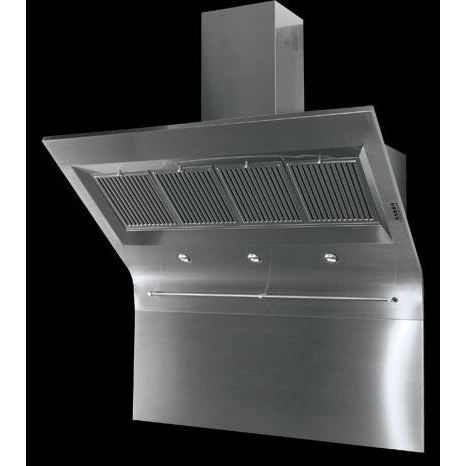 Roblin windy pro murale 1200 inox hotte d co achat vente hotte cdis - Hotte a recyclage professionnelle ...