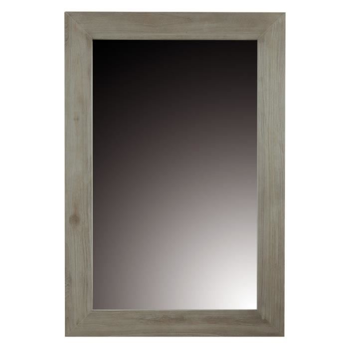 Miroir teck lin 120 x 80 cm cosmopolitan zago achat for Miroir rectangulaire 120 cm
