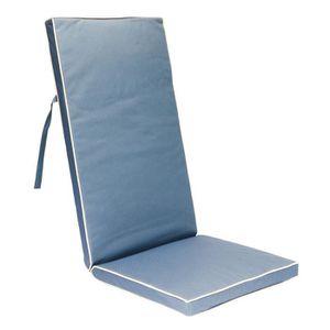 Coussin avec dossier chaise jardin achat vente coussin - Coussin exterieur impermeable ...
