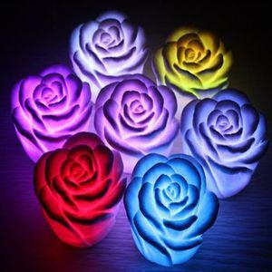 LAMPE A POSER Changement de couleur Romantique fleur en forme de