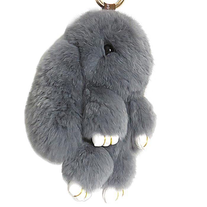 pendentif pour sac a main porte cles lapin fourrure voiture porte cles achat vente pendentif. Black Bedroom Furniture Sets. Home Design Ideas