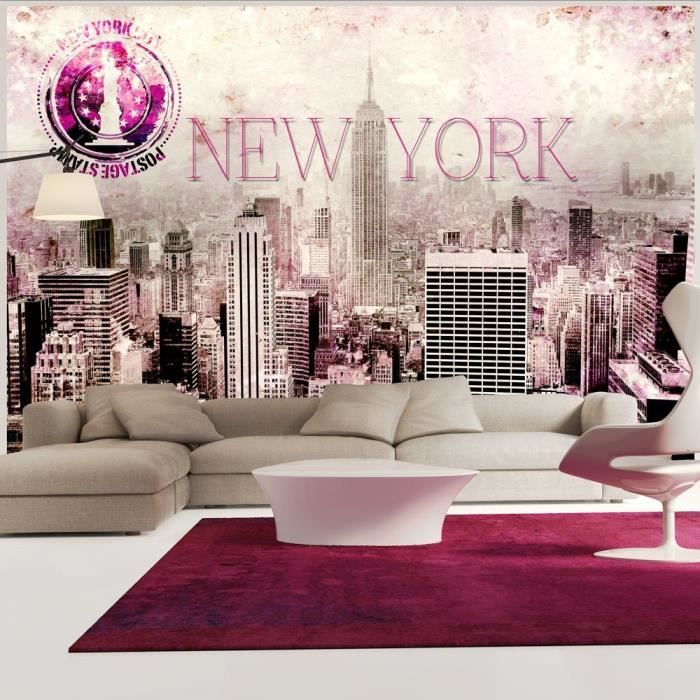 papier peint intiss new york 150x105 cm 3 l s achat vente papier peint papier peint. Black Bedroom Furniture Sets. Home Design Ideas
