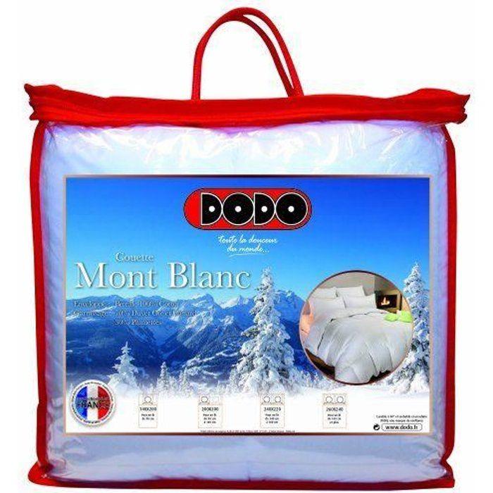 Dodo couette naturelle mont blanc percale 70 duvet d 39 oie for Dodo linge de maison