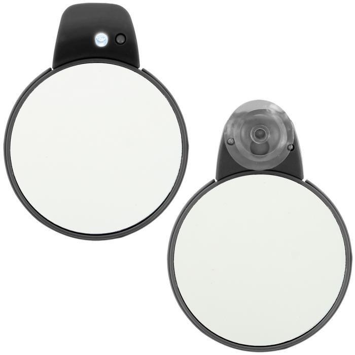 Miroir ventouse lumineux led double face gros achat for Miroir ventouse