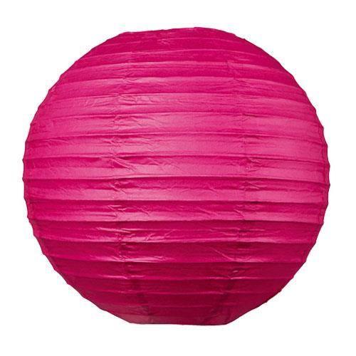 Lampion boule japonaise fushia achat vente lampion for Suspension 3 boules japonaises