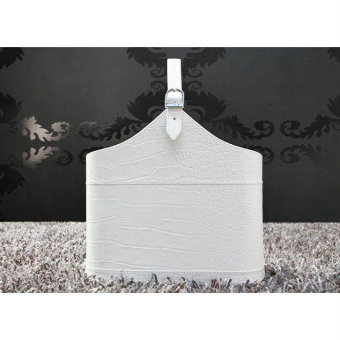 porte revue crocodile blanc achat vente porte revue. Black Bedroom Furniture Sets. Home Design Ideas