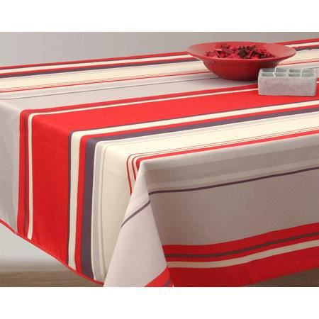nappe anti tache carr 180 cm lignes rouge achat. Black Bedroom Furniture Sets. Home Design Ideas