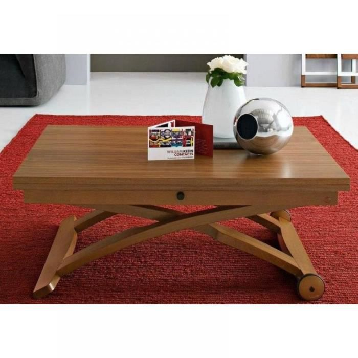 table basse relevable extensible italienne