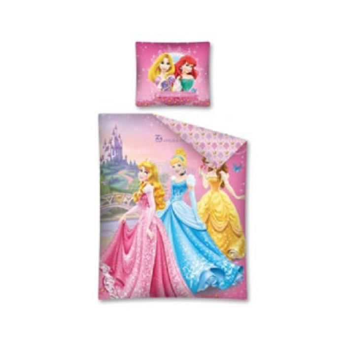 parure de lit princess140 x 200 achat vente parure de drap cadeaux de no l cdiscount. Black Bedroom Furniture Sets. Home Design Ideas