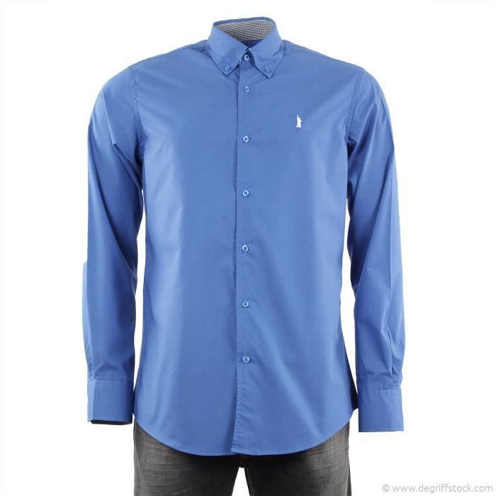 chemise manches longues bleu roi bleu roi achat vente chemisier blouse chemise manches. Black Bedroom Furniture Sets. Home Design Ideas