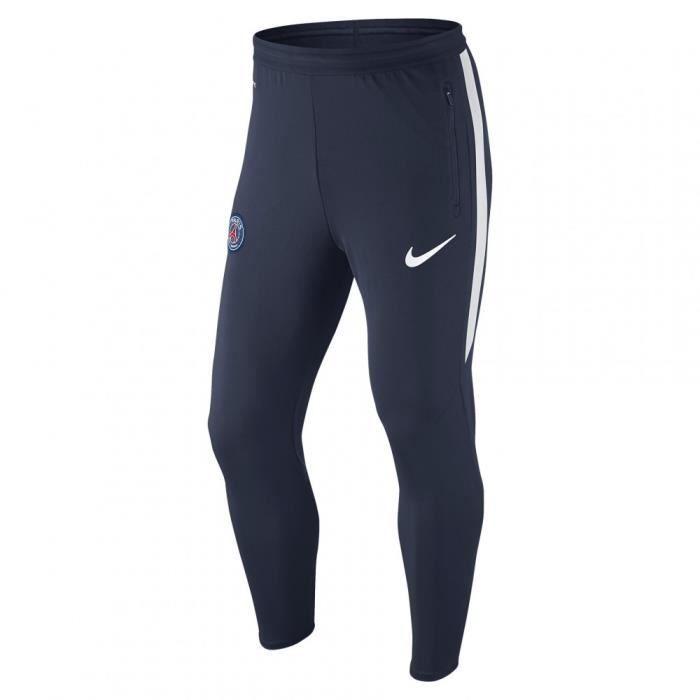 Pantalon de surv tement nike psg strike stretch tech wp 707644 410 bleu bleu achat vente - Pantalon de survetement ...
