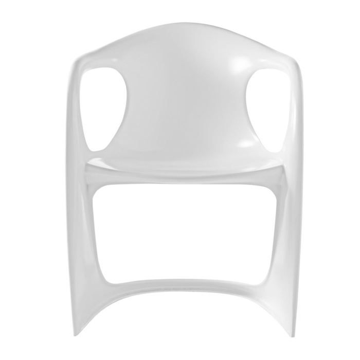 Chaise design blanche vague lot de 4 achat vente - Chaise resine blanche ...