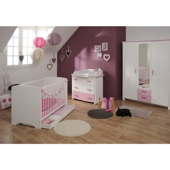 Chambre compl te b b lisa 60x120 achat vente chambre for Achat chambre complete