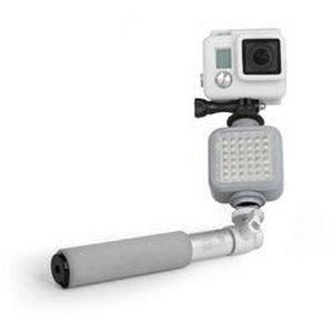 Xsories X-shine Flash projecteur compact pour filmer dans la nuit - idéal GoPro - Argent- Basic