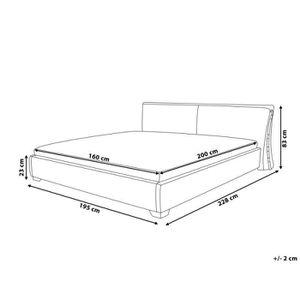 cadre de lit tissu achat vente cadre de lit tissu pas cher cdiscount. Black Bedroom Furniture Sets. Home Design Ideas
