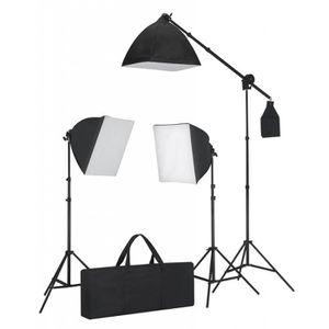 KIT STUDIO PHOTO Kit éclairage studio 3 lampes+sofbox+trépieds