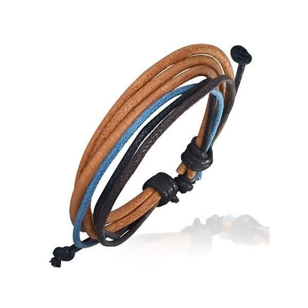 bracelet cuir fin lani re de couleurs multiple achat vente bracelet gourmette bracelet. Black Bedroom Furniture Sets. Home Design Ideas