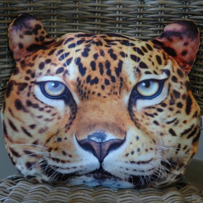 coussin d co safari l opard coussin original et design cadeau l opard achat vente coussin. Black Bedroom Furniture Sets. Home Design Ideas