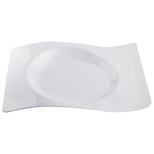 Assiette Vague X12 Blanc Achat Vente Assiette Jetable