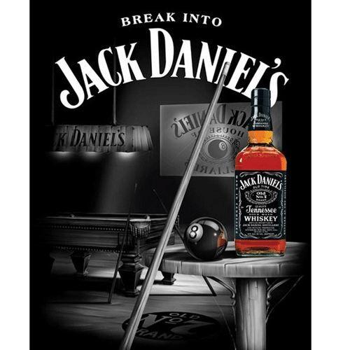 Poster Jack Daniel's Pool RoomVERIFIE