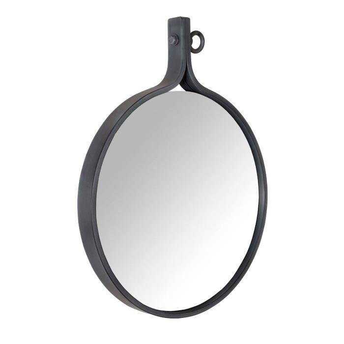 miroir industriel gris