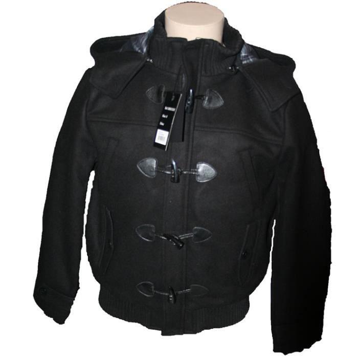 blouson duffle coat scott pour homme noir noir achat. Black Bedroom Furniture Sets. Home Design Ideas