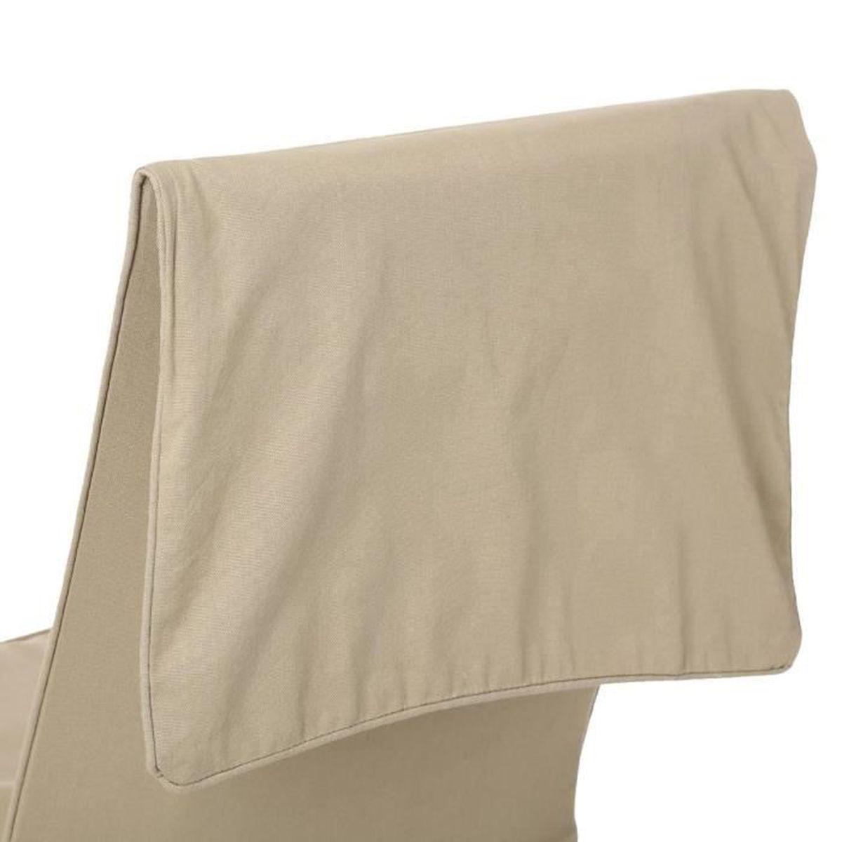 Lot de 2 housses de chaises hauteur ajustable lin for Housse de chaises