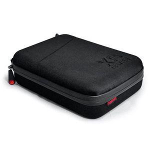 XSories - CAPXULE SMALL - Housse de rangement pour caméra GoPro et accessoires, mousse découpée, filet de rangement, poignée, Noire