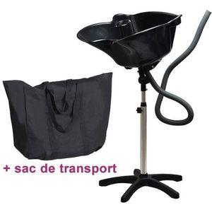 COIFFURE A DOMICILE  Bac Lave tete noir Panama avec sac