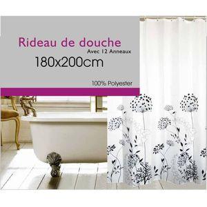 Rideau de douche textile achat vente rideau de douche textile pas cher soldes cdiscount - Rideau de douche textile ...