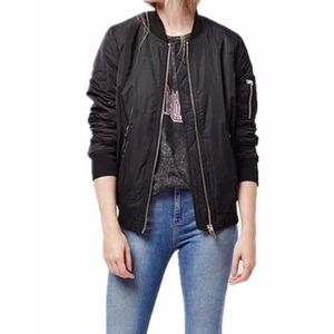 VESTE ZANZEA Veste Moto Zipper Classique Mode Femmes ...