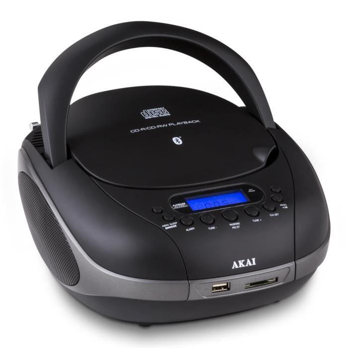 akai aprc55 lecteur cd bluetooth sd usb fm aux noir baladeur cd cassette avis et prix pas. Black Bedroom Furniture Sets. Home Design Ideas