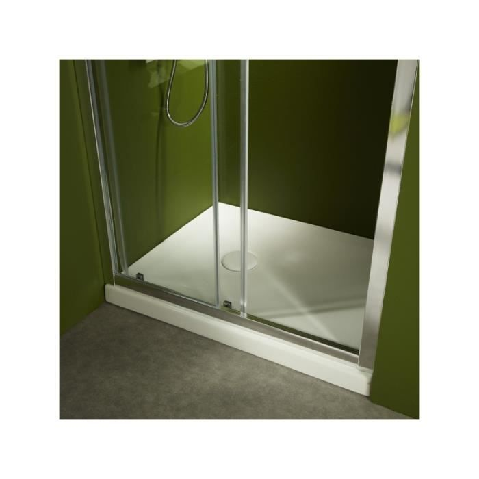 receveur de douche poser 90x90 en gr blanc achat vente receveur de douche 523021. Black Bedroom Furniture Sets. Home Design Ideas