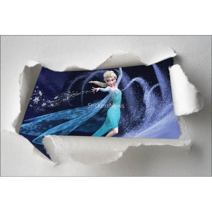 stickers enfant papier d chir frozen la reine des neiges r f 7596 dimensions 120x80cm achat. Black Bedroom Furniture Sets. Home Design Ideas