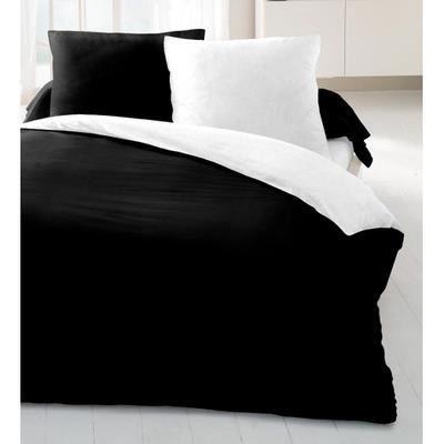 Parure de couette 220 x 240 cm noir blanc 3 pi ces achat for Parure de couette noir et blanc