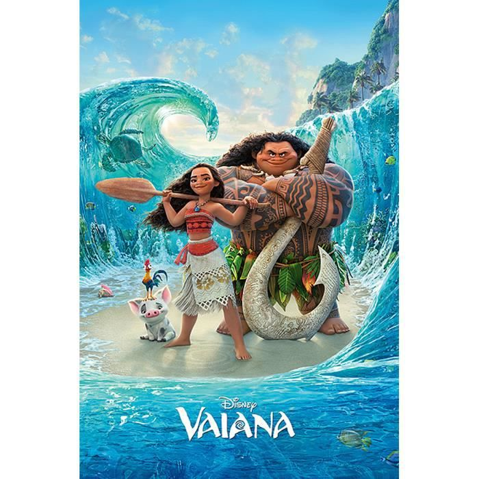 poster disney vaiana magical sea achat vente affiche cdiscount. Black Bedroom Furniture Sets. Home Design Ideas