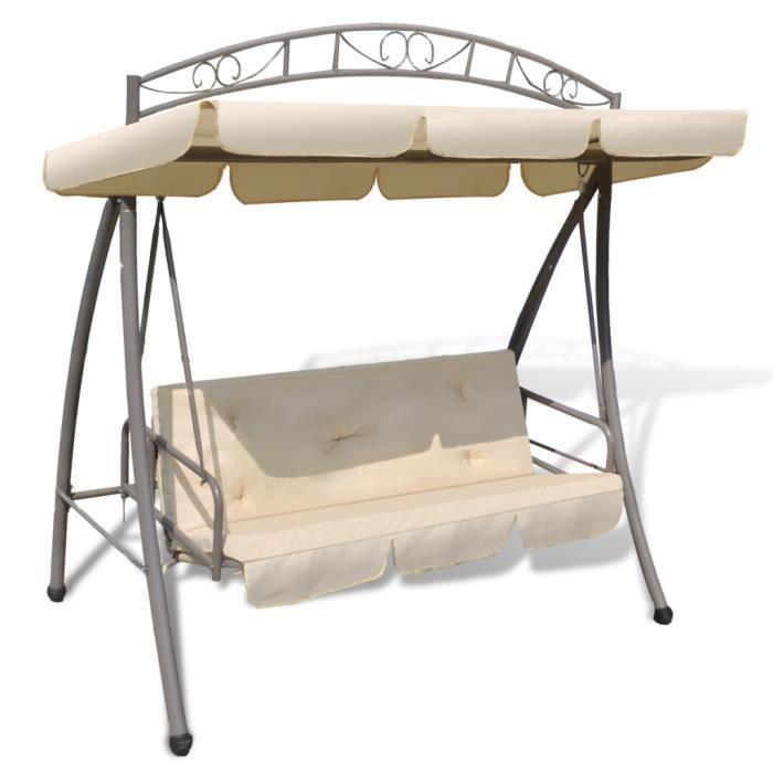 balan oire balancelle transat lit imperm able avec auvent pour reposer ext rieur patio jardin. Black Bedroom Furniture Sets. Home Design Ideas