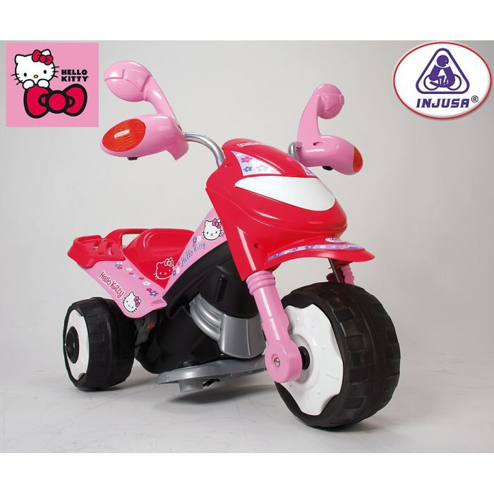 hello kitty scooter trimoto electrique enfant 6 volts achat vente moto scooter soldes. Black Bedroom Furniture Sets. Home Design Ideas
