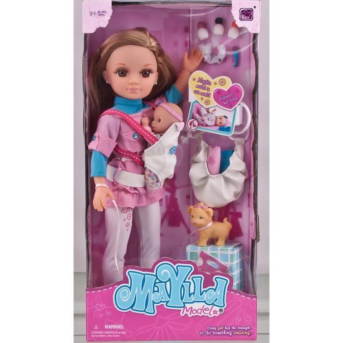 mcsays 43cm poupon barbie maman porte b b nouveau n mon. Black Bedroom Furniture Sets. Home Design Ideas