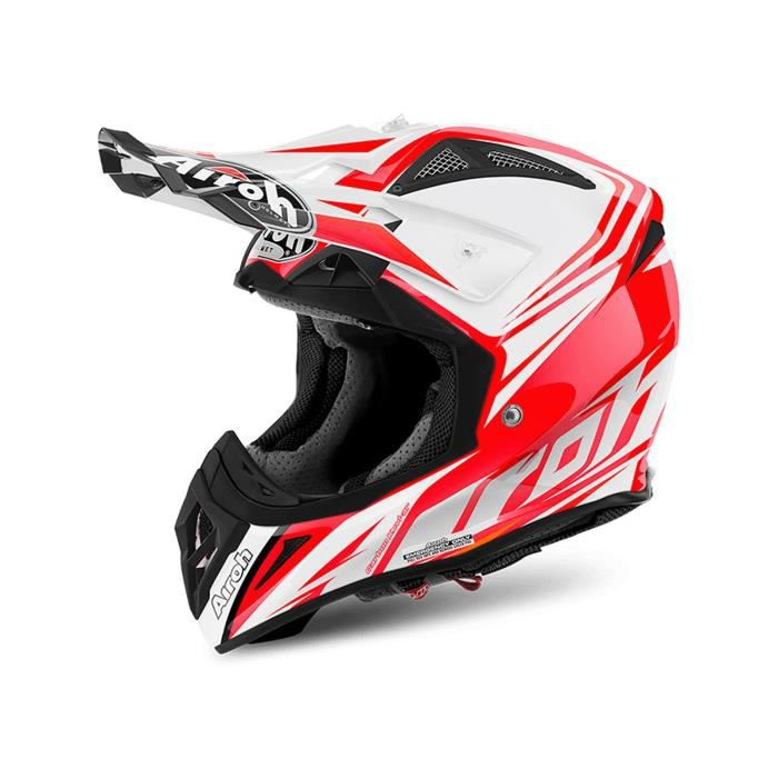 casque motocross airoh 2017 aviator 2 2 ready rouge gloss achat vente casque moto scooter. Black Bedroom Furniture Sets. Home Design Ideas
