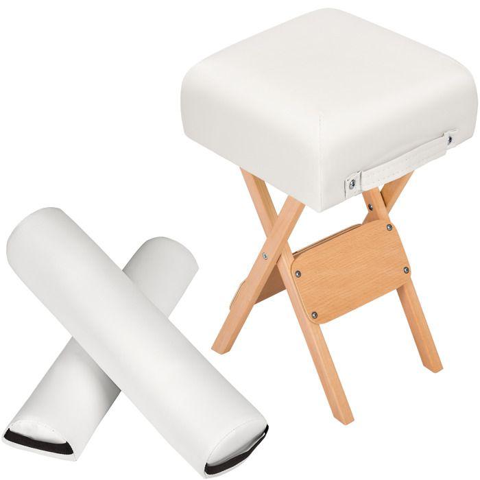 Set d 39 accessoires pour table de massage blanc tectake achat vente tab - Accessoires de massage ...