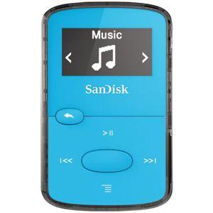 SANDISK CLIP JAM Lecteur MP3 8Go Bleu