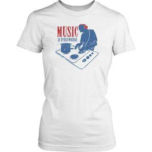 T-SHIRT Femmes t-shirt DTG Print - Music Is Everywhere - D