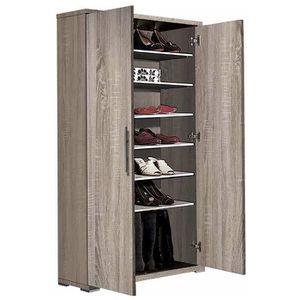 armoire a chaussure en bois achat vente armoire a chaussure en bois pas cher cdiscount. Black Bedroom Furniture Sets. Home Design Ideas